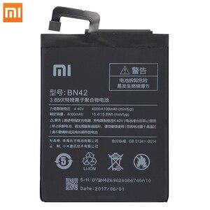 Image 3 - Xiao Mi Original Phone Battery BN42 For Xiaomi Redmi Hongmi 4 Original Replacement Batteries High Capacity 4000mAh Free Tools