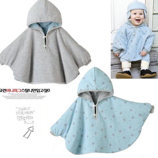 Muchacha de la capa 2016 de la chaqueta de invierno para la muchacha del bebé con capucha capas del algodón del bebé caliente gruesa ropa de abrigo niños ropa de bebé clothing