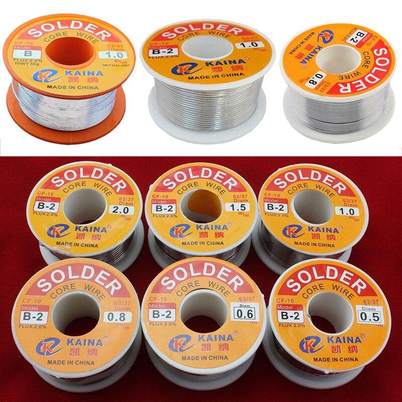 New 63/37 Rosin Core Solder Wire FLUX 2.0% Rosin Core Welding Tin Lead Solder Iron Wire Reel 0.5mm/0.6mm/0.8mm/1.0mm/1.2mm/1.5mm  цены