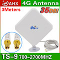 4G Antenna 35dBi TS9 For HUAWEI E589 E392 ZTE MF61 MF62 aircard 753s 754s760s 4G LTE FDD/TDD ROUTER MODEM Antenna