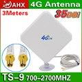 4g antena 35dbi ts9 para huawei e589 e392 zte mf61 mf62 754s760s aircard 753 s 4g lte fdd/tdd módem router antena