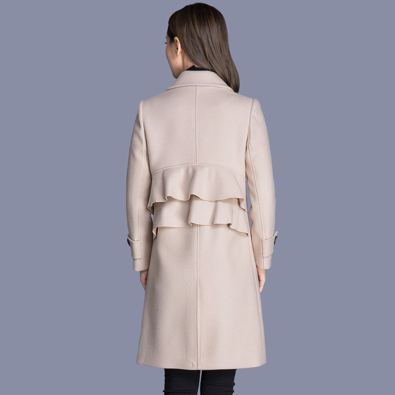 Las Creamy De Kj168 Casaco Ayunsue Largo Chaqueta Mujeres Lana Outwear Mujer white caramel Colour Otoño Abrigo Ropa Invierno Abrigos Femenino 4IYqxwaf