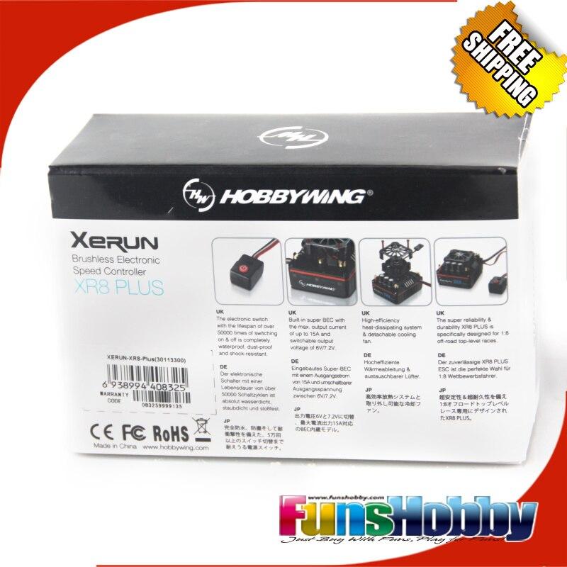 Hobbywing XERUN XR8 Plus 150A Sensor RC ESC Drehzahlregler Für 1:8 Buggy Wettbewerb Losi Hongnor COD.30113300-in Teile & Zubehör aus Spielzeug und Hobbys bei  Gruppe 2