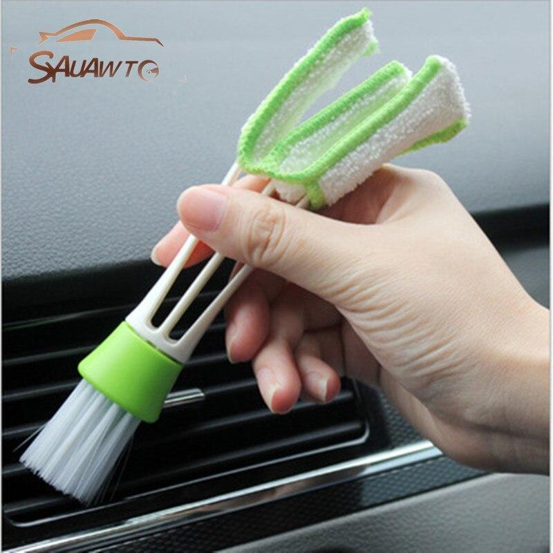 цена на Car Cleaning Double Side Brush For Audi A3 A1 A5 A6 C6 A8 A7 A4 B6 B8 B5 B6 B7 C5 80 A7 Q3 Q5 Q7 TT R8 A4L A8L A6L RS R8