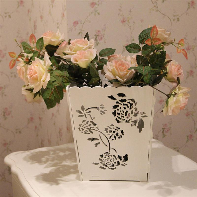 hollow flower stationery storage box wedding arrangement christmas home mainland - Wreath Storage Box
