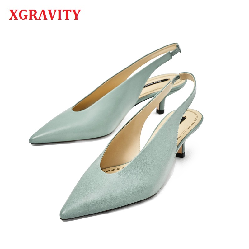 XGRAVITY New Summer Shoes Retro V Design Women Pointed Toe High Heel Pumps Sexy Woman Fashion High Heels Thin Heels Sandals A120XGRAVITY New Summer Shoes Retro V Design Women Pointed Toe High Heel Pumps Sexy Woman Fashion High Heels Thin Heels Sandals A120