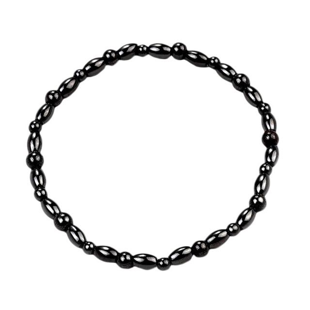 Fashion Magnetic Stone Leg Anklets Bracelet Men Women Black Ankle Bracelet Gifts Lose Weight Feet Bracelet Hot Selling