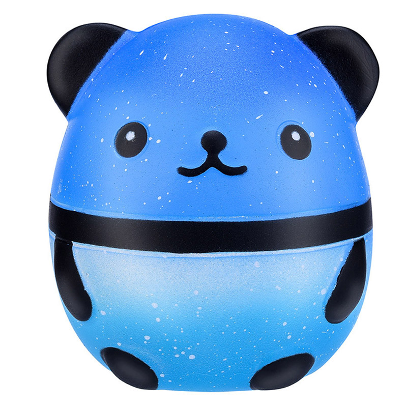 New Cute Colorful Galaxy Panda Squishy Simulation Animal Doll Bread Cake Scented Slow Rising Stress Relief For Kid Xmas Gift