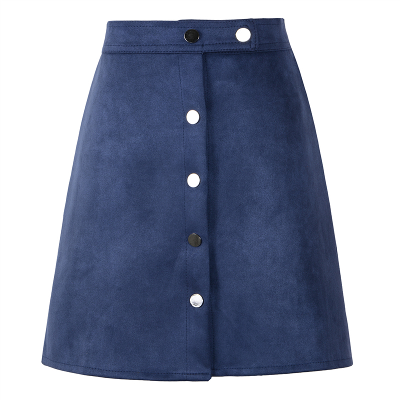 Neophil 19 Winter Women Suede Button Mini Vintage Style A Line Skirts High Waist Black Wrap Ladies Short Skirt Tutu Saia S1001 12