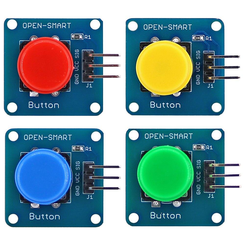 Открытый смарт 4 шт Большой кнопочный модуль ключа комплект активный высокий уровень выход для Arduino Nano Pro Mini