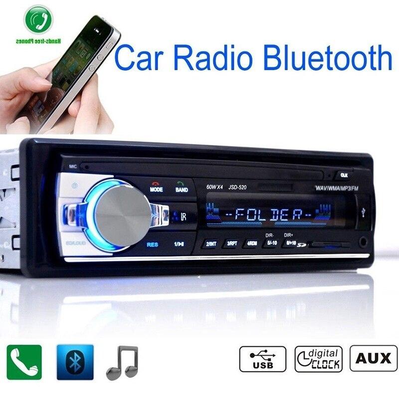 Auto radio Car Radio 12V Bluetooth V2.0 Car Audio Stereo In-dash 1 Din FM Aux Input Receiver SD USB MP3 MMC WMA Car Radio Player