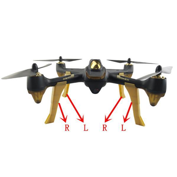 LeadingStar 4Pcs/Set H501S Landing Gear Landing Skids RC FPV Quadcopter Spare Parts Racing Drone DIY Accessories