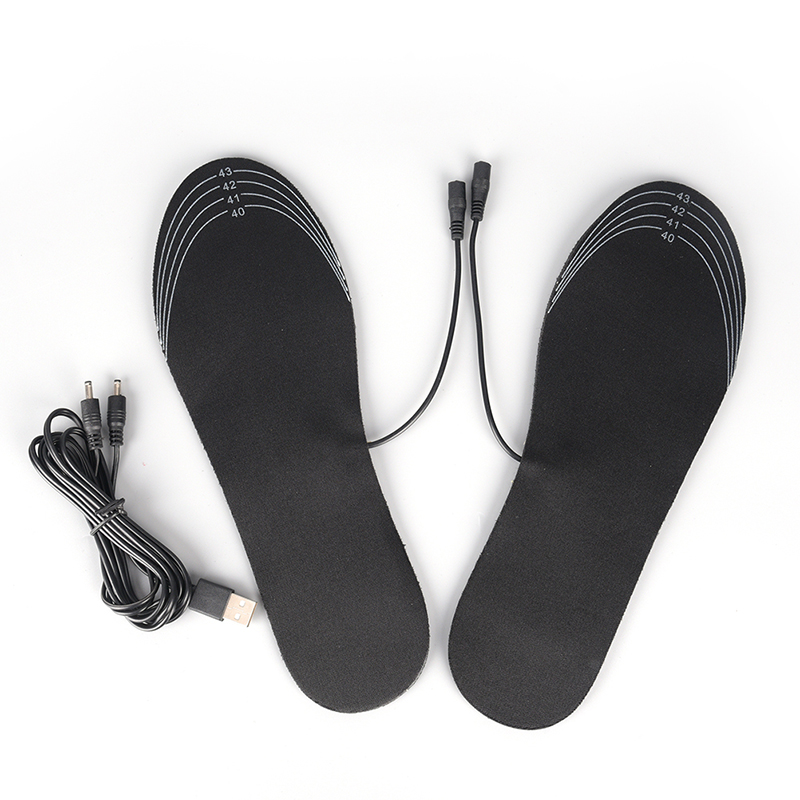 1Pair USB Heated Insoles Rechargeable Electric Battery Warmer Shoes Heater Winter Keep Warm Electrically Thermal Insole