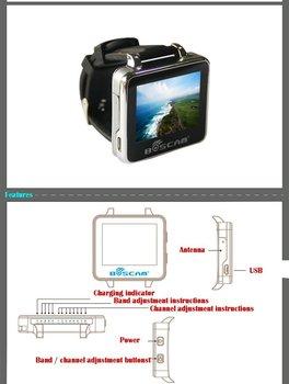 Boarnaque BOS200RC FPV Montre 200RC 5.8GHz 32CH HD 960*240 2