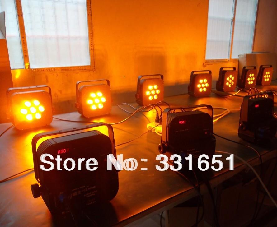 цена на 10pcs/lot 2017 Hot DJ Par Light LED Par Can Light 7x15W New RGBAW 5IN1 5/9 Channels DMX512
