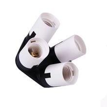 High Quality Photo Studio 4 in 1 E27 Lamp Base Bulb Socket Splitter Adapter Photography Studio Lamp Holder