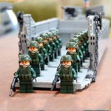 2019 WW2 World War II Higgins Amphibian Landing Battleship Figure Toy Compatible legoergy Military Building Blocks Kids Gift