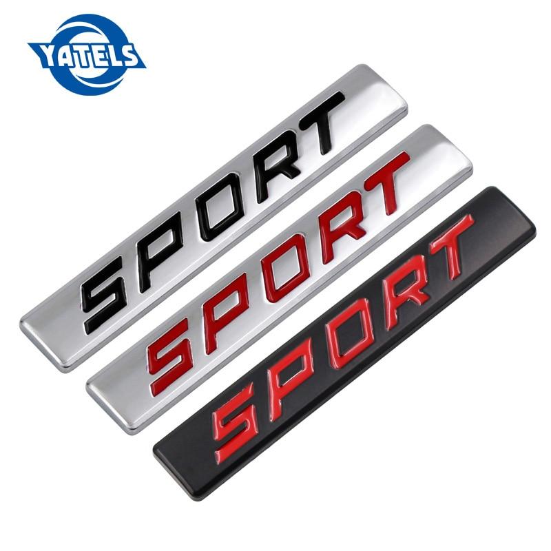 Black Red 3D Metal SPORT Car Sticker Emblem Badge For Jeep BMW Ford Volvo Nissan Mazda Audi Honda Toyota Lada Kia Chevrolet