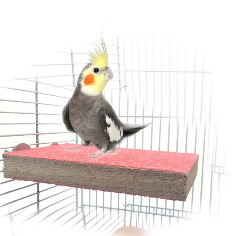 Pet Bird Accessories Colorful Pet Bird Cage Perches Stand Platform Paw Grinding Clean For Toys Parrot Parakeet Chew Toy