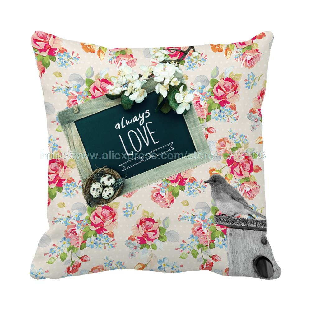 New arrival always love cushion sweet wedding warm home decor custom design luxury decorative pillows flower sofa bed almofadas