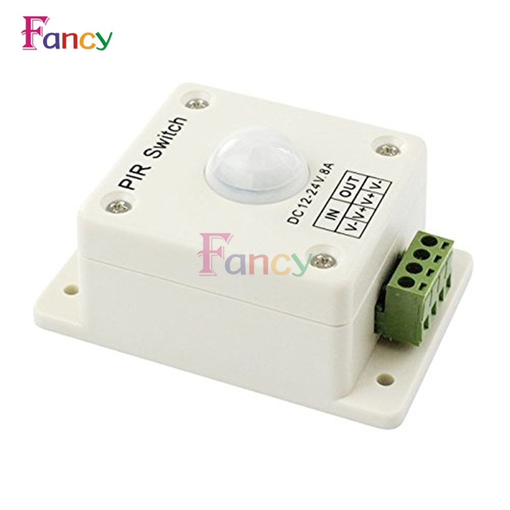 DC12-24V 8A PIR Infrared Motion Sensor Switch Human Body Automatic Induction for LED Lamp Strip Lighting --M25 hot pir infrared motion sensor switch human body induction motsion save energy automatic module led light sensing switch 1pc