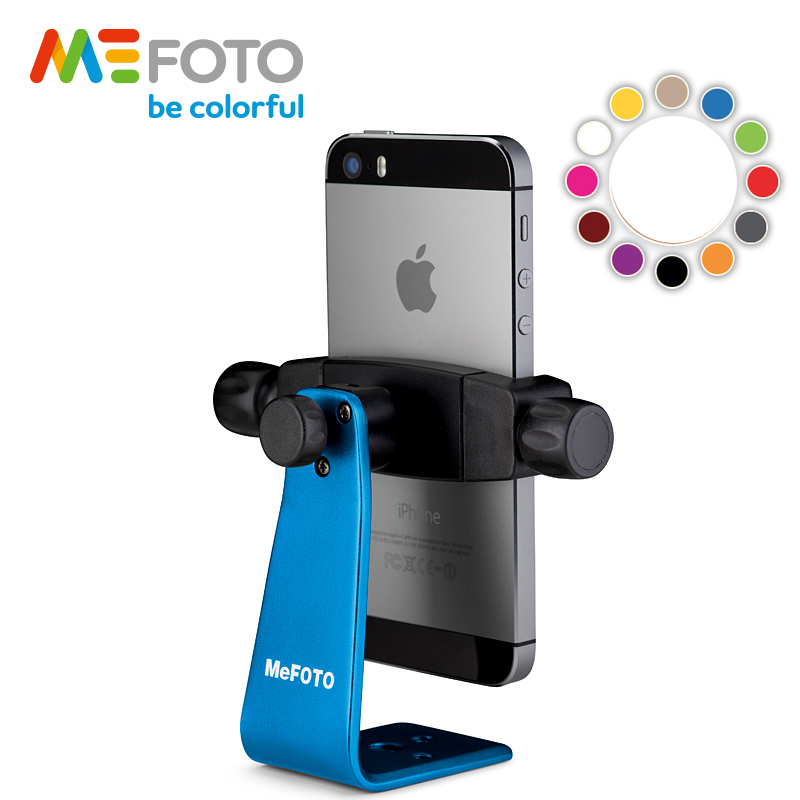 MeFOTO SideKick360 Smartphone Adapter Table Tripod For Mobile Phone Stable Phone Cilp Bracket 12 Colors For Quick Release Plate in Tripods from Consumer Electronics