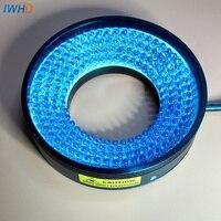 Машина видение источник света светодио дный кольцо промышленное освещение 48 мм внутренняя Диаметр синий Яркость DC24V лампа конические анг с