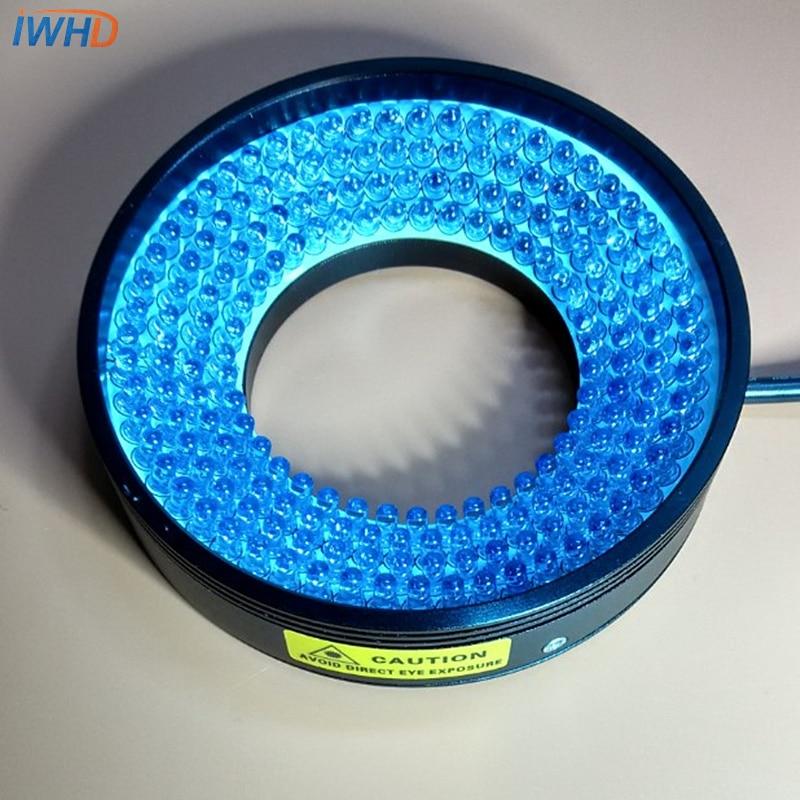Machine Vision Light Source LED Ring Light Industrial Lighting 48mm Inner Diameter Blue Brightness DC24V Lamp Bevel Angled Ring