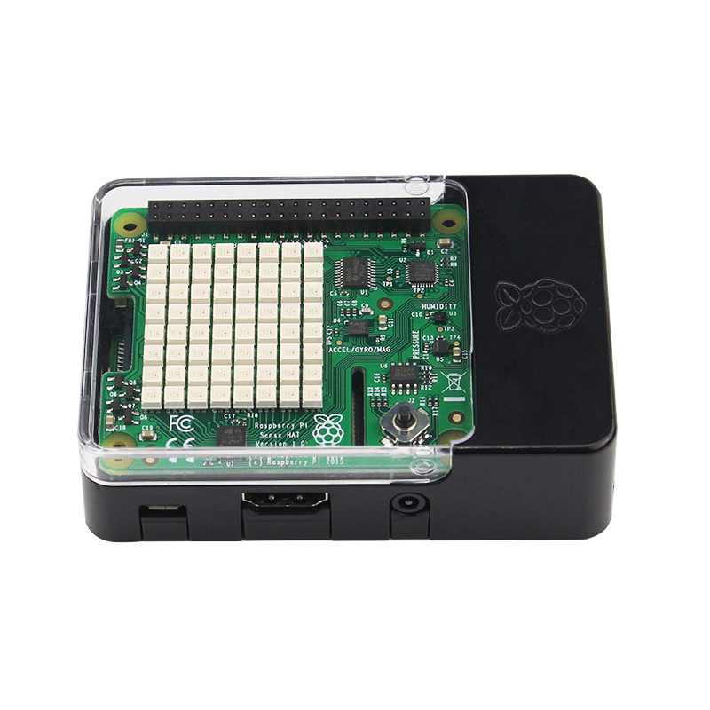 Framboise Pi 3 sens chapeau avec capteur de température et Direction pression humidité + ABS étui pour framboise Pi 2