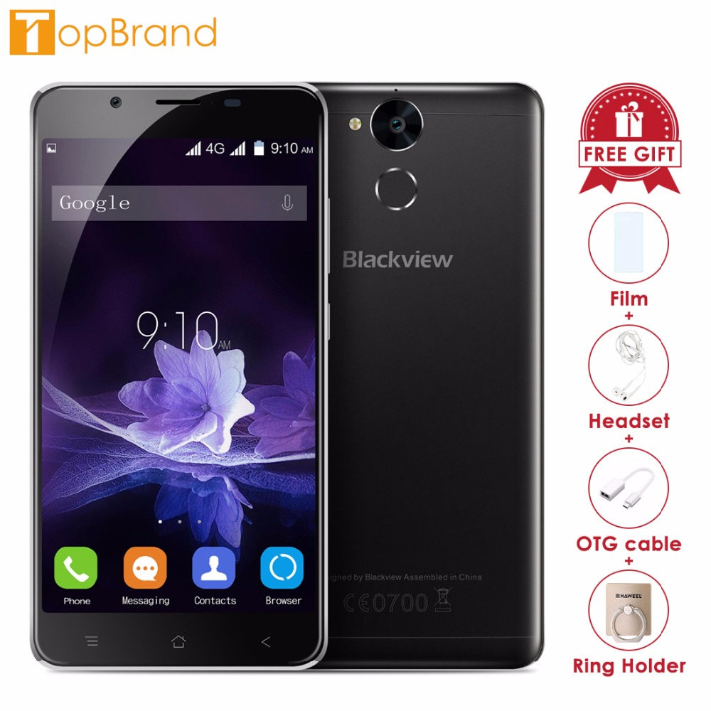 Blackview P2 Smartphone 5,5 zoll FHD Bildschirm 4 gb RAM 64 gb ROM Android 6.0 MTK6750T 8 Core 1,5 ghz Dual SIM 13MP Entsperren 4g OTG FM