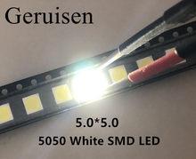 5050 diodo emissor de luz smd diodos smd 5050 branco/natureza branco conduziu cct: 4000-4500k 0.2w-60ma 5050 nw 4000 pces