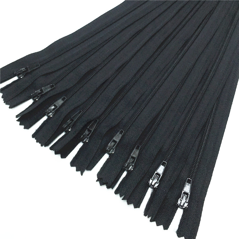 10pcs Black color 3# Closed Nylon Coil Zippers Tailor Sewing Craft (6-24 Inch) 15-60CM