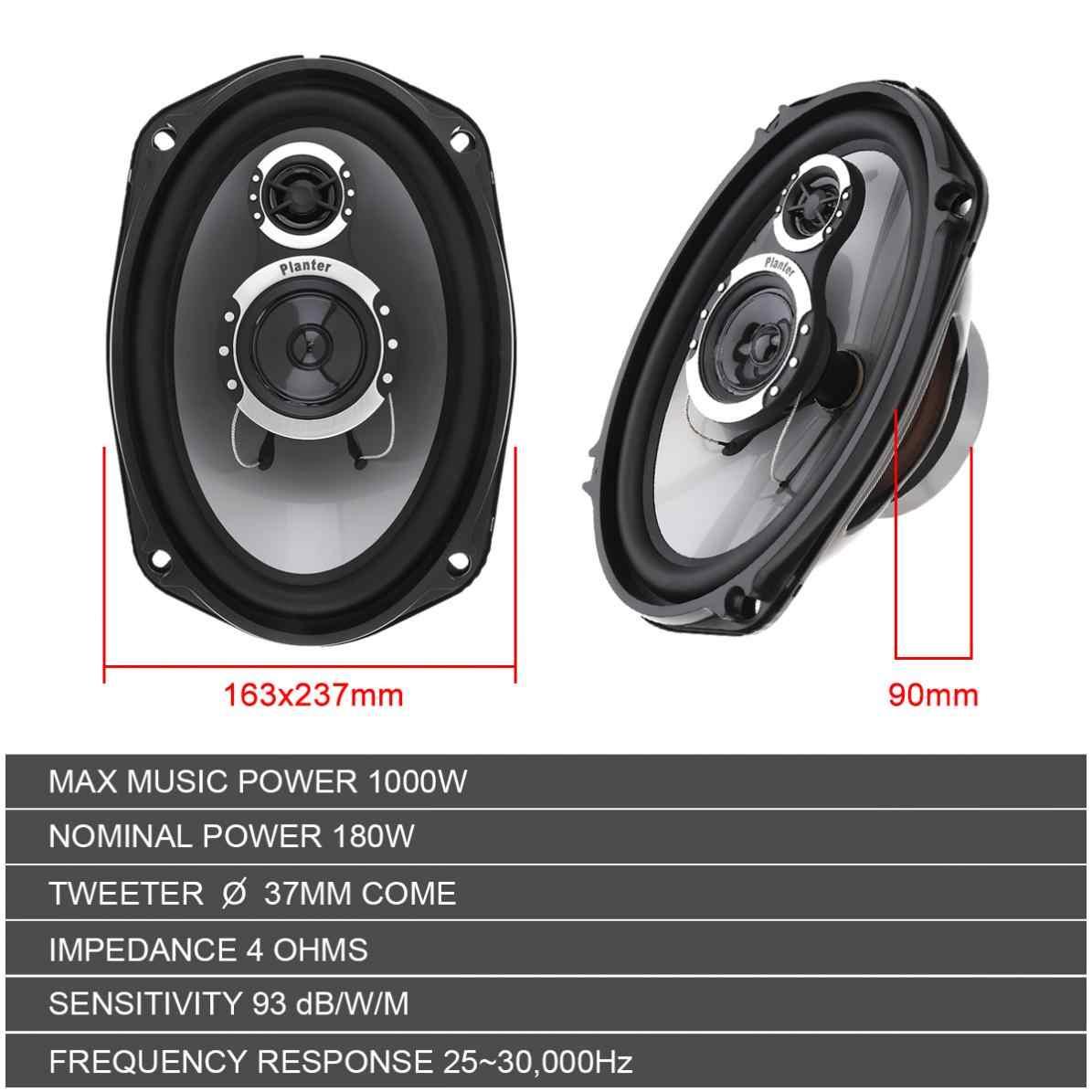 1 Pair 6x9 Inch 1000W 3 Way Car Coaxial Speaker HIFI Audio Music Stereo Full Range Vehicular Speakers