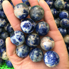 New blue lines stone rock sphere healing natural stones and minerals reiki diy jewelry making