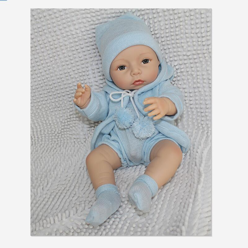 ФОТО 16 Inch/40 cm Handmade Silicone Reborn Baby Doll,Lifelike Baby Doll Vinyl Toddler Toys for Children Brinquedos Juguetes