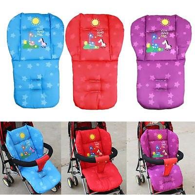 Winter New Baby Infant Stroller Cushion Giraffe Cartoon Pattern Car Seat Pad Cotton Warm Thick Cart Cover  Mats