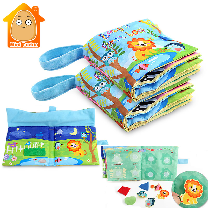 Soft Books Infant Early Cognitive Development My Quiet Books Baby Goodnight Educational Unfolding Cloth Book Learning Resources ...