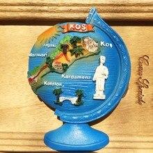 Греческий туризма Сувенирный магнит на холодильник Глобус кос Магниты на холодильник
