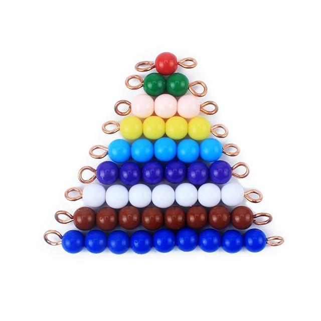 Juguete de bebé Montessori cuentas coloridas 1-9 juguetes de matemáticas Educación Temprana juguetes de enseñanza de matemáticas niños preescolar entrenamiento juguetes de aprendizaje