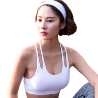 2017 Summer New Women Professional Sporting Tank Tops Sexy Bra Cross Back Hollow Out Crop Top