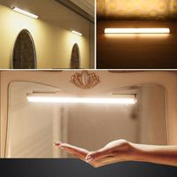 USB Rechargeable Front Mirror 2835SMD 56LED Motion Sensor Makeup Night Light Bathroom Bedroom Wall Lamp