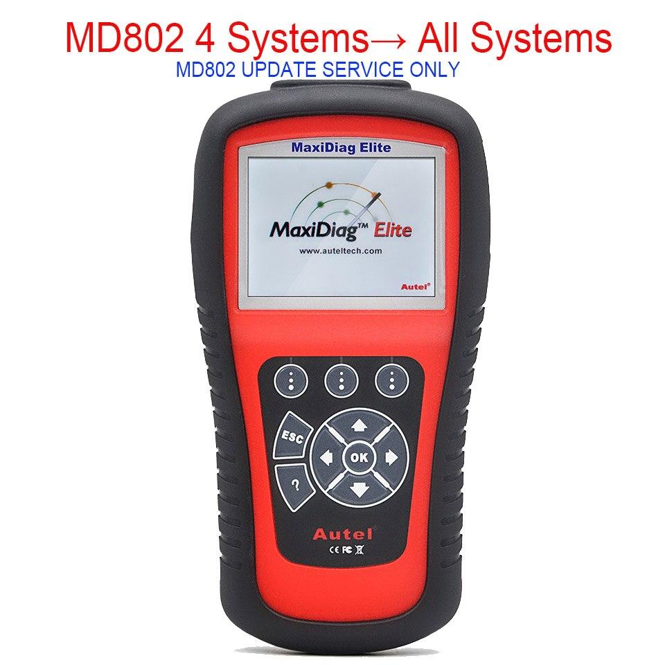 Prix pour Autel Auto Link MaxiDiag MD802 Mise À Jour Service De MD802 4 Systèmes À MD802 Tous Les Systèmes