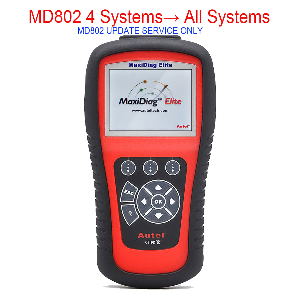 Цена за Autel автоссылки MaxiDiag MD802 обновление Услуги от MD802 4 системы для MD802 все системы
