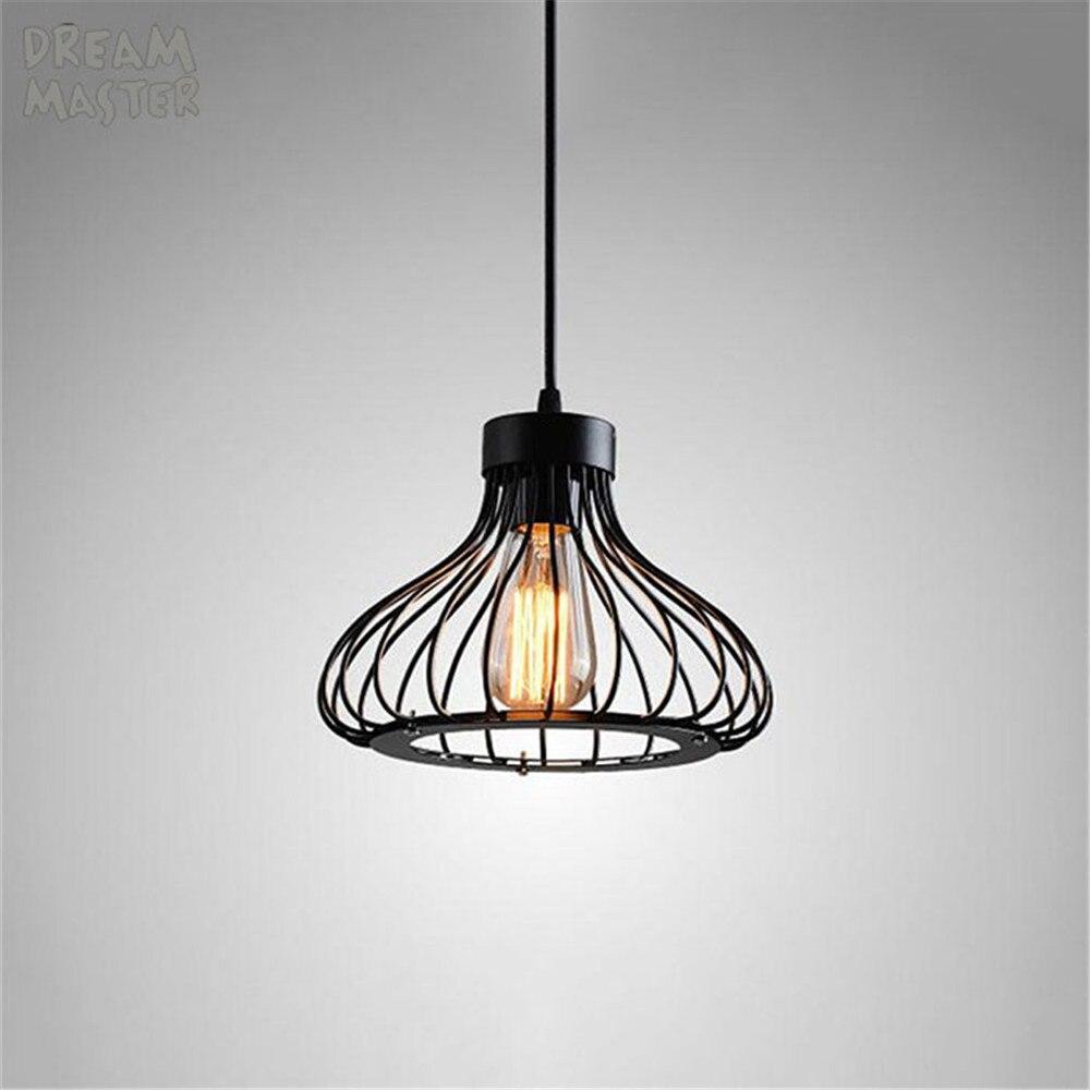 Minimalisme lustre Suspendu Lumière Noir Fil Cage Lampe Éclairage lustre de cristal sala maison restaurant accueil luminaires
