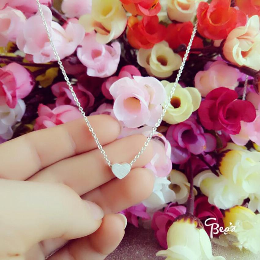 Minuscule amour coeur colliers en acier inoxydable petits coeurs en - Bijoux fantaisie - Photo 3