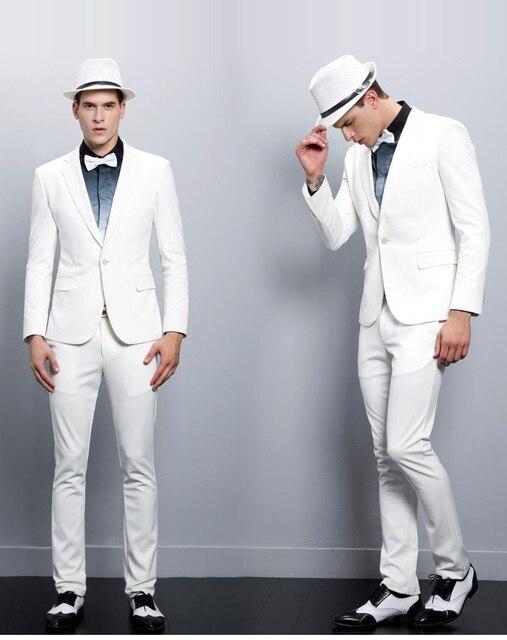 5b16435699ac2 2019 High quality custom Made Generous men s writhe gentalmen Groom Tuxedos  Grooms men Best Man Suit