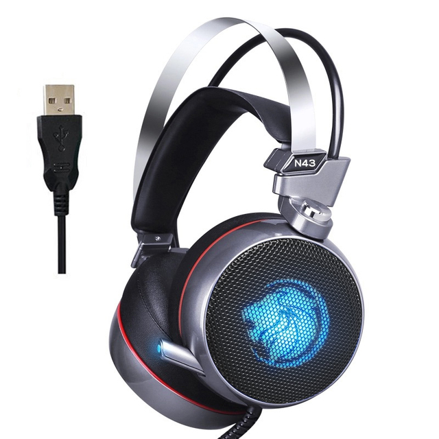 ZOP N43 Stereo Gaming Headset 7.1 Virtual Surround Bass Gaming Earphone Headphone with Mic LED Light for Computer PC Gamer 6