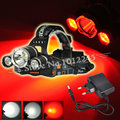 Boruit 5000Lm XML T6+2*XPE Red&White LED Head Light Linternas Frontales Cabeza Headlight Headlamp Lantern+Ac Charger(EU/US)
