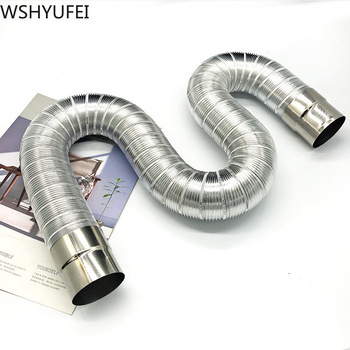 Fireproof gas water heater stainless steel 60-150mm  aluminum strong universal exhaust Car intake  pipe extension tube length