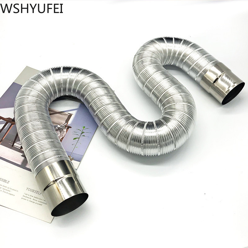 Fireproof Gas Water Heater Stainless Steel 60*150mm Aluminum Strong Universal Exhaust Pipe / Extension Tube Length